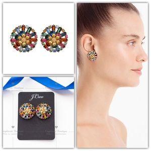 J.CREW Flower Crystal Stud Earrings